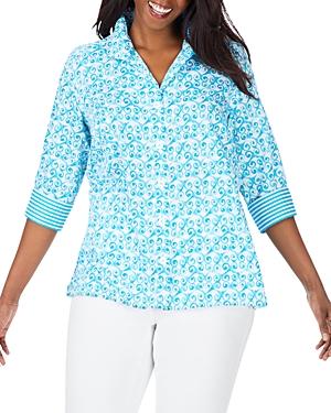 Foxcroft Plus Cotton Printed Tunic