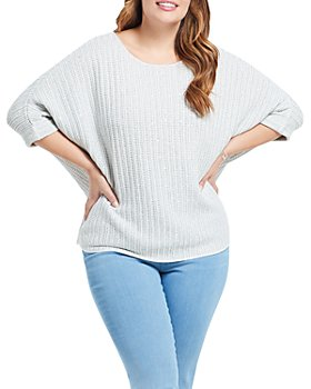 NIC and ZOE Plus - Glow For It Boat-Neck Sweater