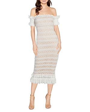 Likely MILARO LACE OFF-THE-SHOULDER DRESS