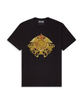 Versace Jeans Couture - Medallion Crystal Embellished Slim Fit Tee