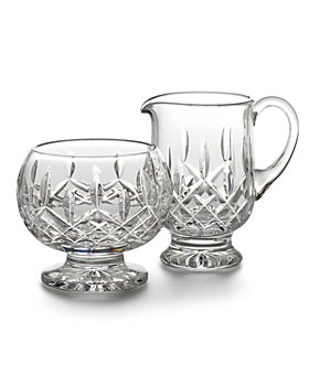 Waterford - Lismore Footed Creamer & Sugar Bowl