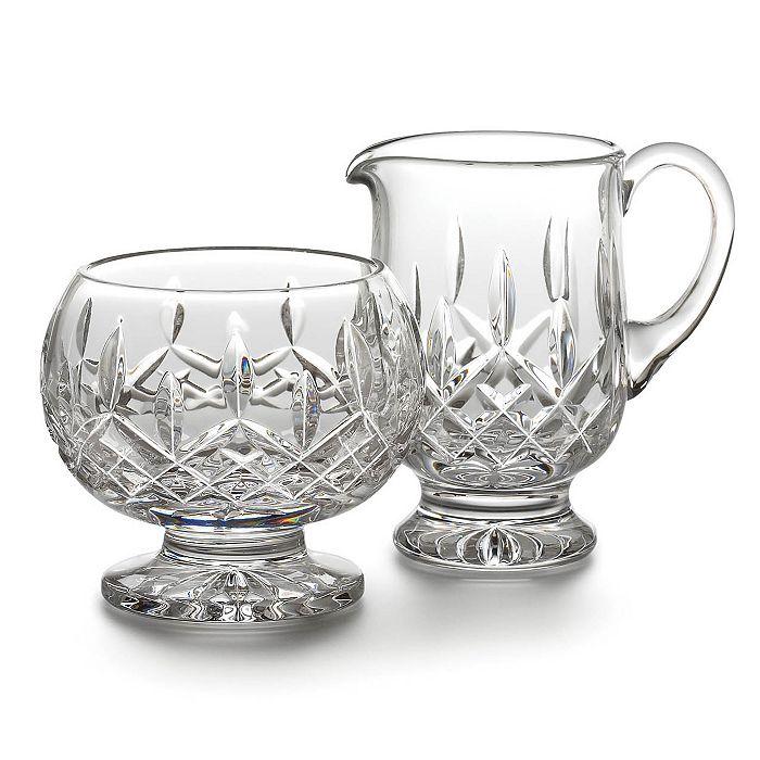 Waterford - Lismore Footed Creamer & Sugar Bowl