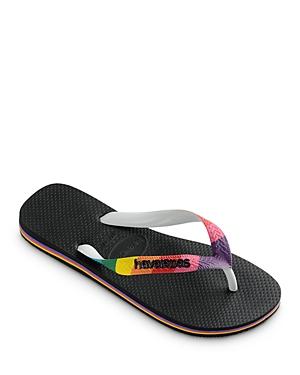havaianas Men's Top Pride Rainbow Strap Flip-Flops