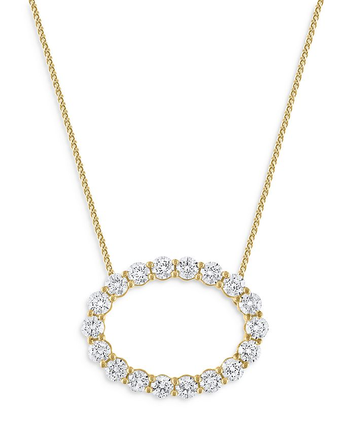 Bloomingdale's Diamond Circle Pendant Necklace In 14k Yellow Gold, 2.0 Ct. T.w. - 100% Exclusive In White/gold