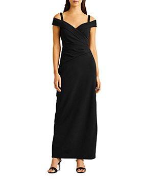 Ralph Lauren - Crepe Cold Shoulder Gown