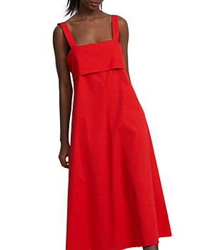 Theory - Tie Back Midi Dress