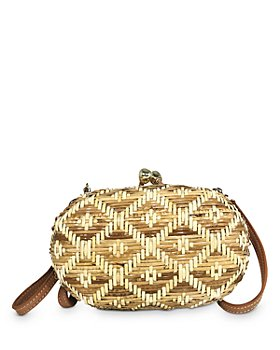 SERPUI - Olivine Wicker Clutch
