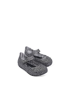 Mini Melissa - Girls' Minicampap Glitter Zigzag Mary Jane Flats - Walker, Toddler
