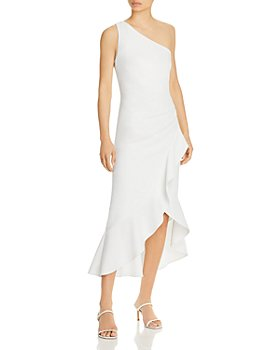 AQUA - Off the Shoulder Crepe Cocktail Dress - 100% Exclusive