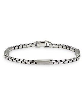 David Yurman - Sterling Silver Streamline® Station Box Chain Bracelet
