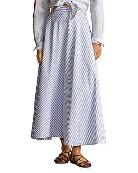 Ralph Lauren - Striped Cotton A-Line Maxi Skirt