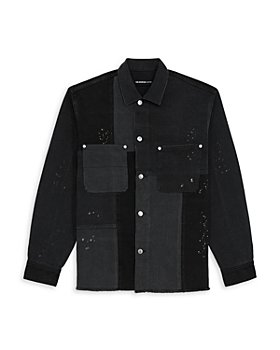 The Kooples - Denim Patchwork Regular Fit Button Down Shirt