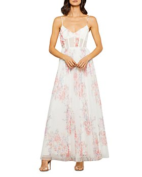 BCBGMAXAZRIA - Floral Tulle Evening Gown