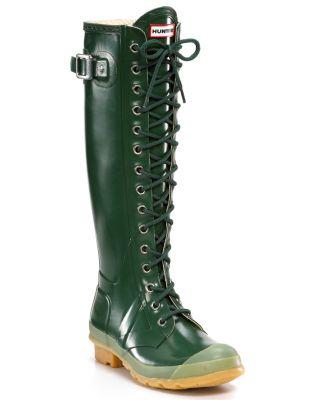 Hunter Gloss Watling Lace-Up Rain Boots