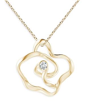 Natori 14K Yellow Gold Sakura Diamond Pendant Necklace, 17