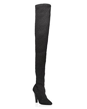 Saint Laurent - Women's Nero Almond Toe Over-the-Knee High Heel Boots