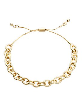 AQUA - Cable Chain Link Slider Bracelet in Gold Tone - 100% Exclusive
