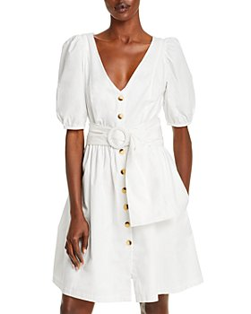 FRENCH CONNECTION - Besima Puff Sleeve Belted Dress