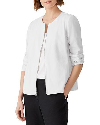 Eileen Fisher Petites - Ponte Knit Zip Jacket