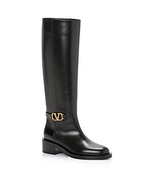 Valentino Garavani - Women's Vlogo Pull On Riding Boots