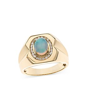Bloomingdale's - Opal & Diamond Band in 14K Yellow Gold - 100% Exclusive