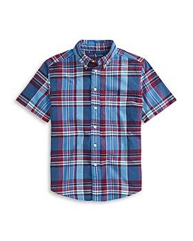 Ralph Lauren - Boys' Cotton Madras Shirt- Little Kid, Big Kid