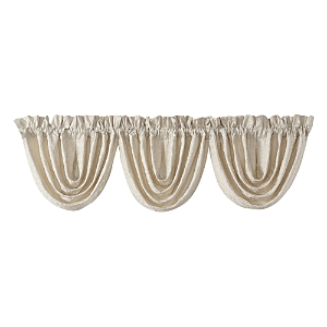 Waterford Valetta Ivory Waterfall Valance, Set of 3