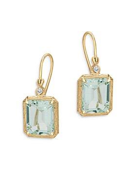 Bloomingdale's - Prasiolite & Diamond Accent Drop Earrings in 14K Yellow Gold - 100% Exclusive
