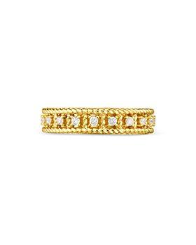 Roberto Coin - 18K Yellow Gold Byzantine Barocco Diamond Ring