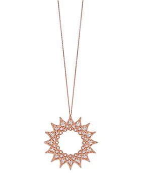 Roberto Coin - 18K Rose Gold Roman Barocco Diamond Pendant Necklace, 28""