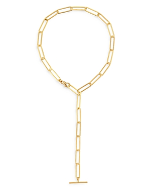 18K Gold-Plated Nora Link Lariat Necklace