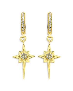 Didi Cubic Zirconia Starburst Dangle Hoop Earrings