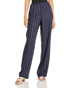 Vince - Striped Pull On Wide Leg Pants