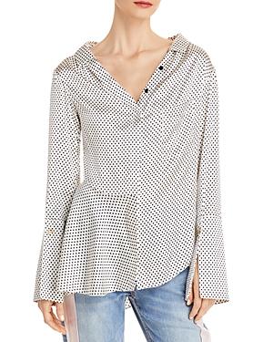 Bessette Dotted Stretch Silk Shirt