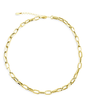Chunky Chain Link Choker Necklace