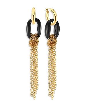 Maison Irem Bibi Ring & Chain Tassel Drop Earrings in 18K Gold Plated Sterling Silver