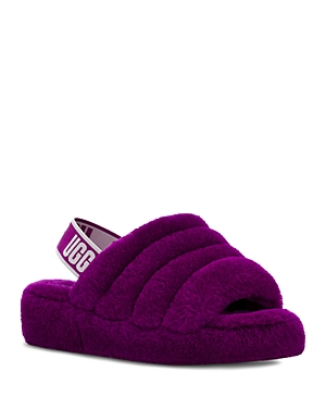 Ugg Sandals WOMEN'S FLUFF YEAH SHEARLING SLINGBACK SLIPPERS