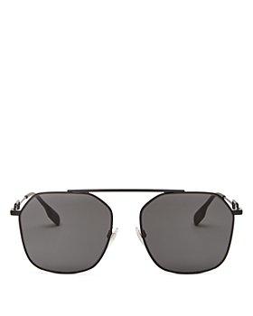 Burberry - Men's Brow Bar Square Sunglasses, 57mm