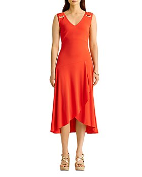 Ralph Lauren - Faux Wrap A Line Dress