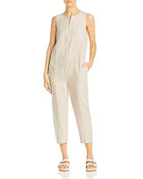 Eileen Fisher - Sleeveless Organic Linen Crewneck Jumpsuit