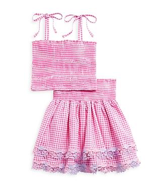 Peixoto Girls' Shae Top & Skirt Set - Big Kid In Pink