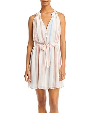 Printed Belted Mini Dress