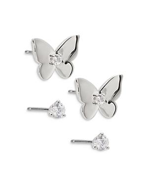 Nadri Danya 2-Pc. Set Butterfly & Stud Earrings