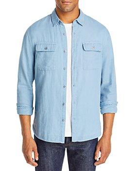 Vince - Cotton Double Face Garment Dyed Slim Fit Button Down Shirt