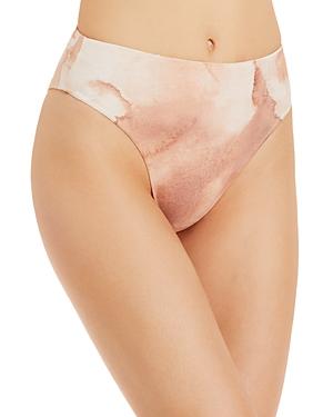 High Leg Printed Bikini Bottom