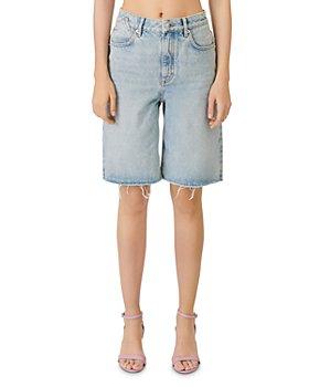 Maje - Iperle Oversized Denim Bermuda Shorts