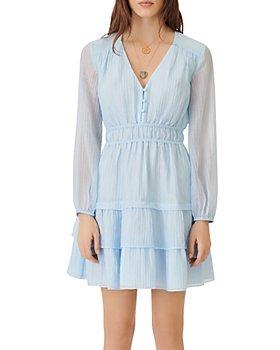 Maje - Roubelia Ruffled Crinkle Dress