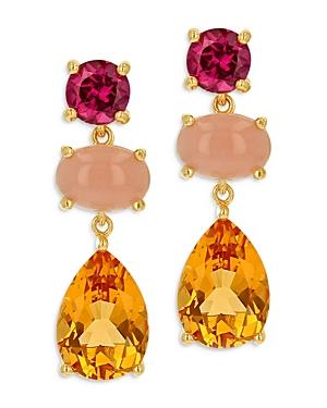 Bloomingdale's Multi Gemstone Drop Earrings in 14K Yellow Gold - 100% Exclusive