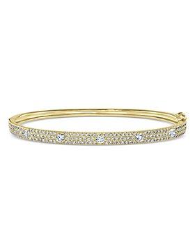 Bloomingdale's - Diamond Pavé Bangle Bracelet in 14K Yellow Gold, 1.45 ct. t.w. - 100% Exclusive