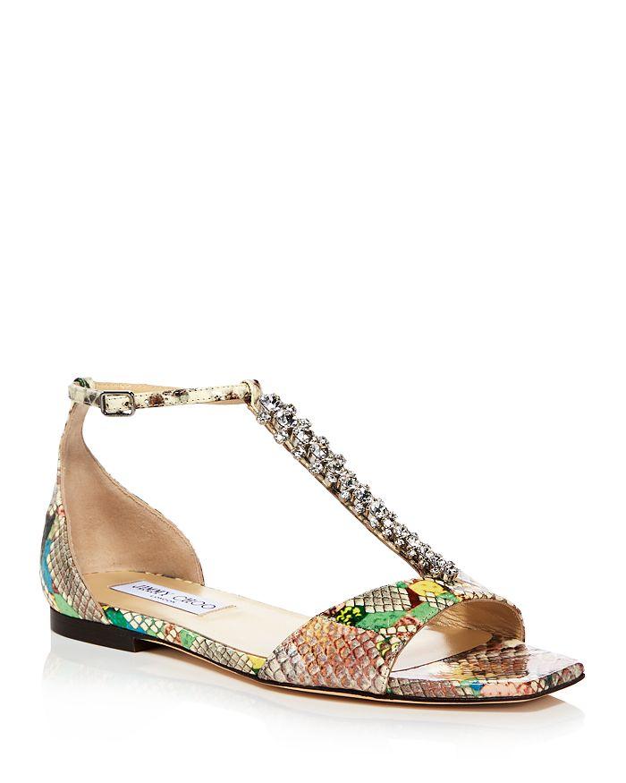 Jimmy Choo - Women's Bella Embellished Flat Sandals